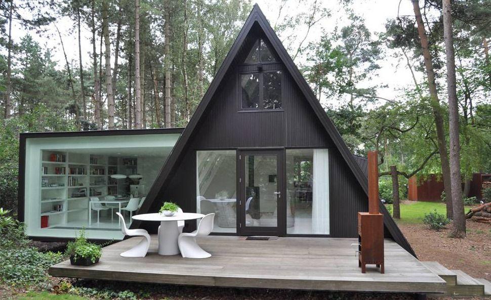 AFrame Summer Cabin Gets Glass Addition Summer cabins Glass