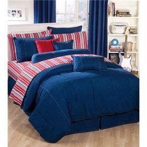 American Denim Comforter Set Twin Bed Sets Dorm Bedding