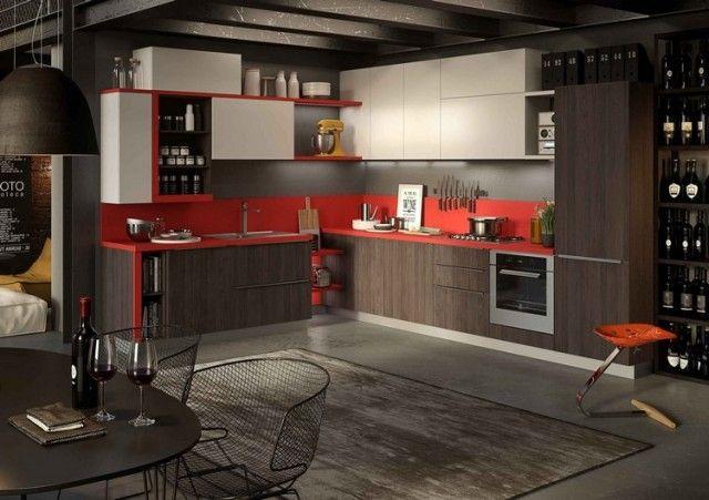 Salon rouge et blanc, design et moderne couleurs salon Pinterest - deco salon rouge et blanc