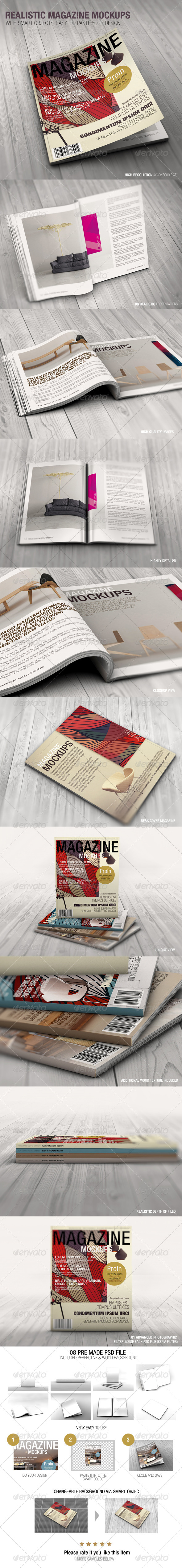 Realistic Magazine Mockups 08 Pre made psd file Perpective Floor