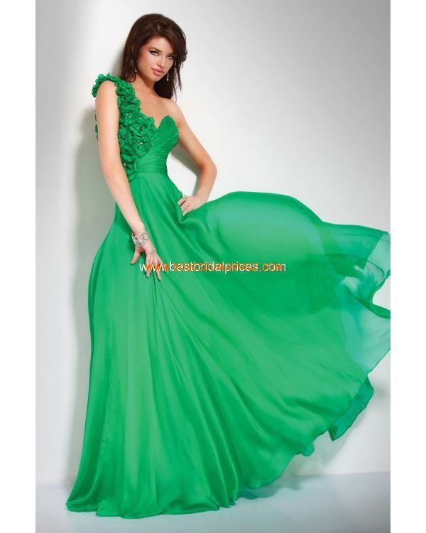 Robe de cocktail pas cher vert