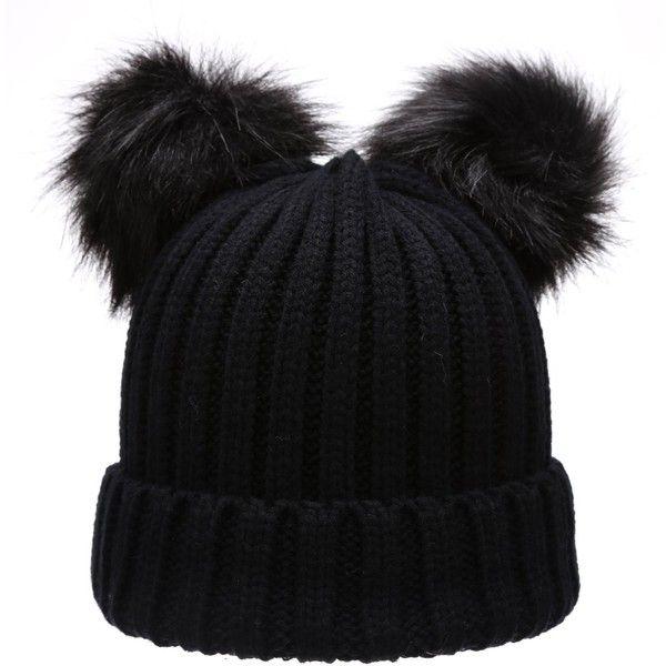 37b9267c9 Women's Winter Chunky Knit Double Pom Pom Beanie Hat With MIRMARU ...
