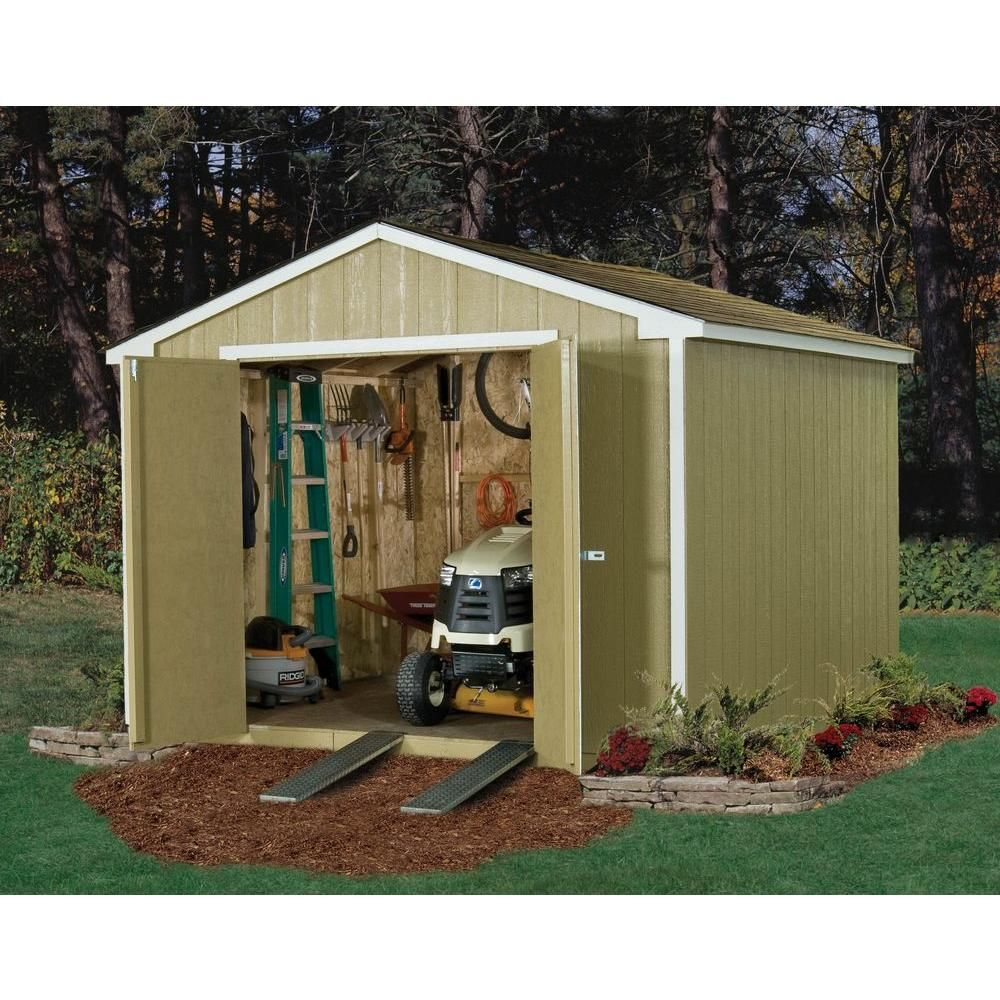 handy home products princeton 10 ft x 10 ft wood storage shed 18250 1 at the home depot - Home Depot Garden City