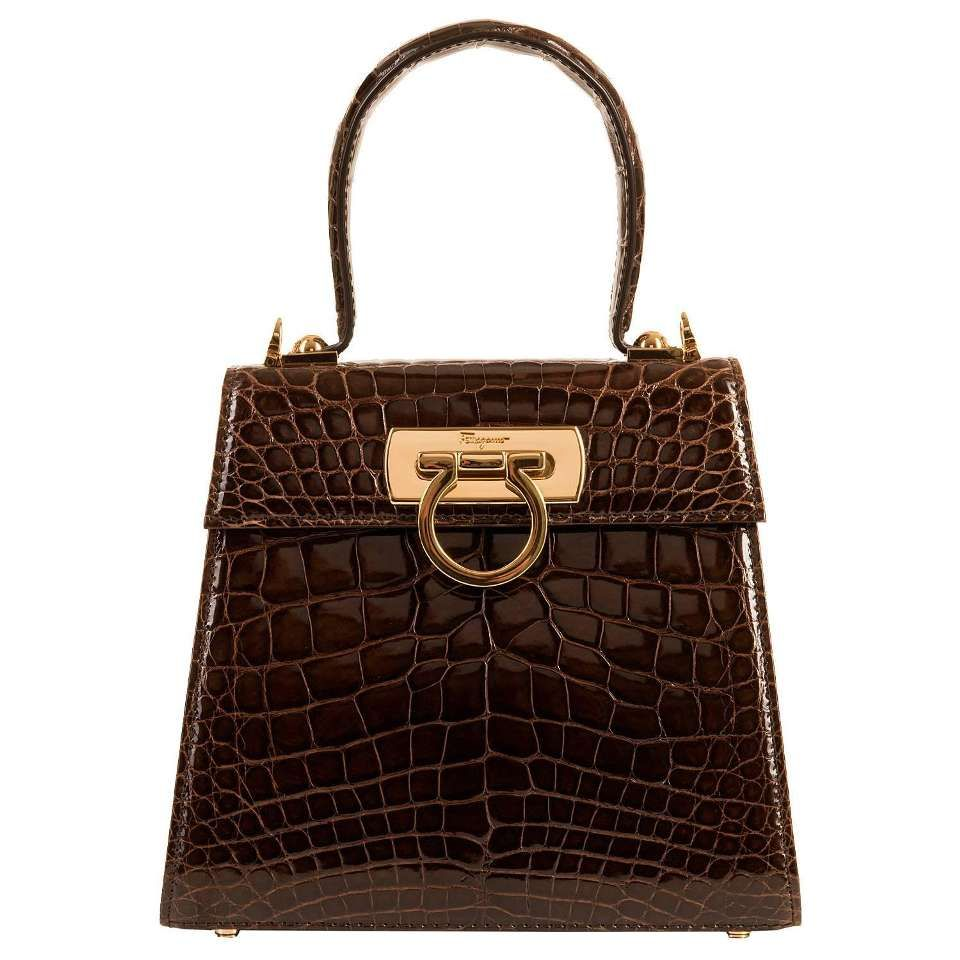 Never Worn Fabulous Salvatore Ferragamo Limited Edition Porosus Crocodile  Bag 1 2d95a11c35ded