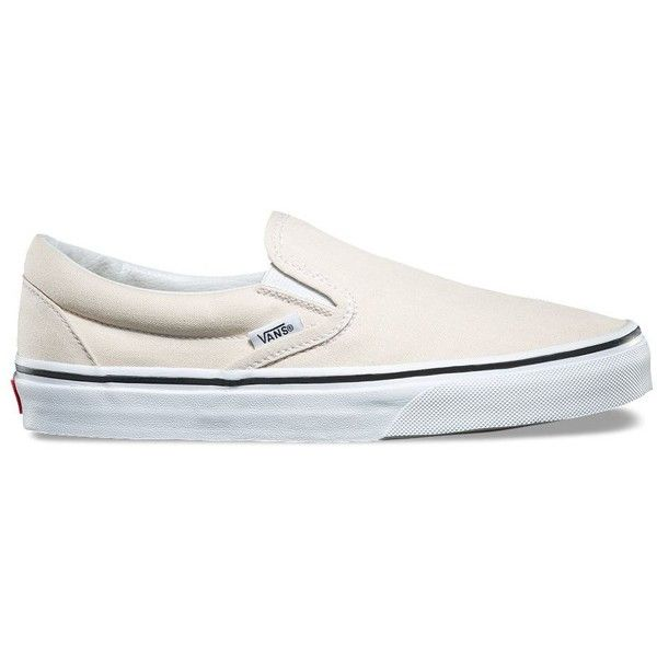 vans slip-on low-top beige