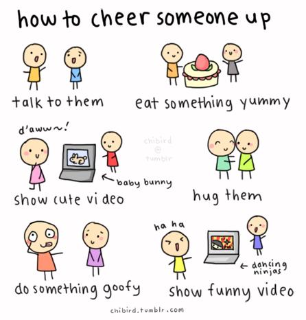 Ways to cheer up a depressed friend