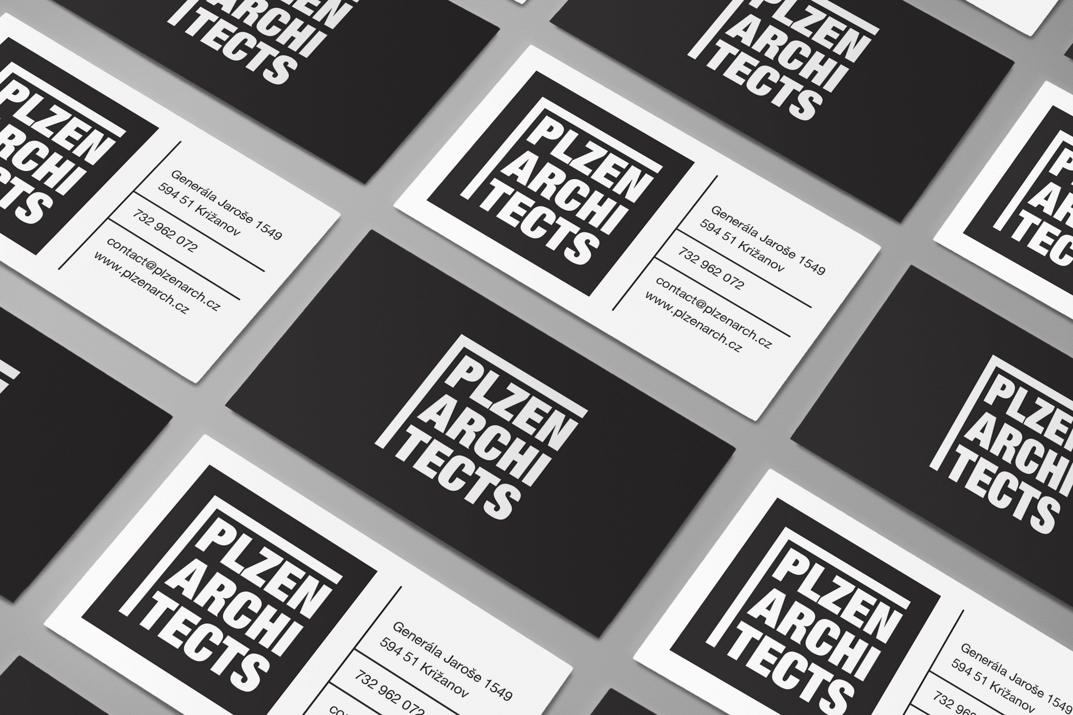 Plzen Architects Identity And Business Cards For An Architectural