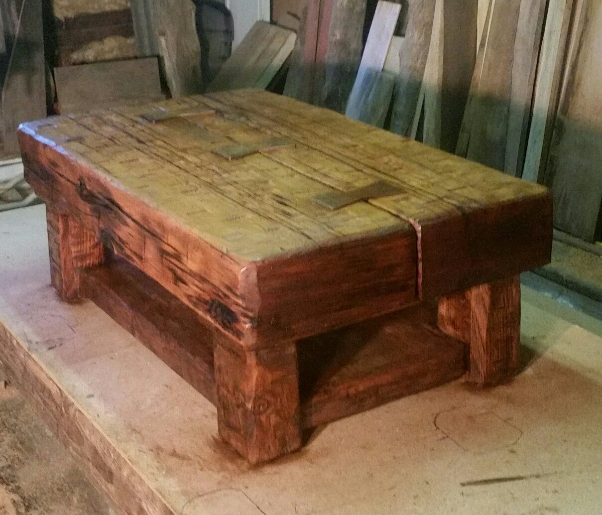 Timber Coffee Table By Darv Averill Timbers Are From An Old
