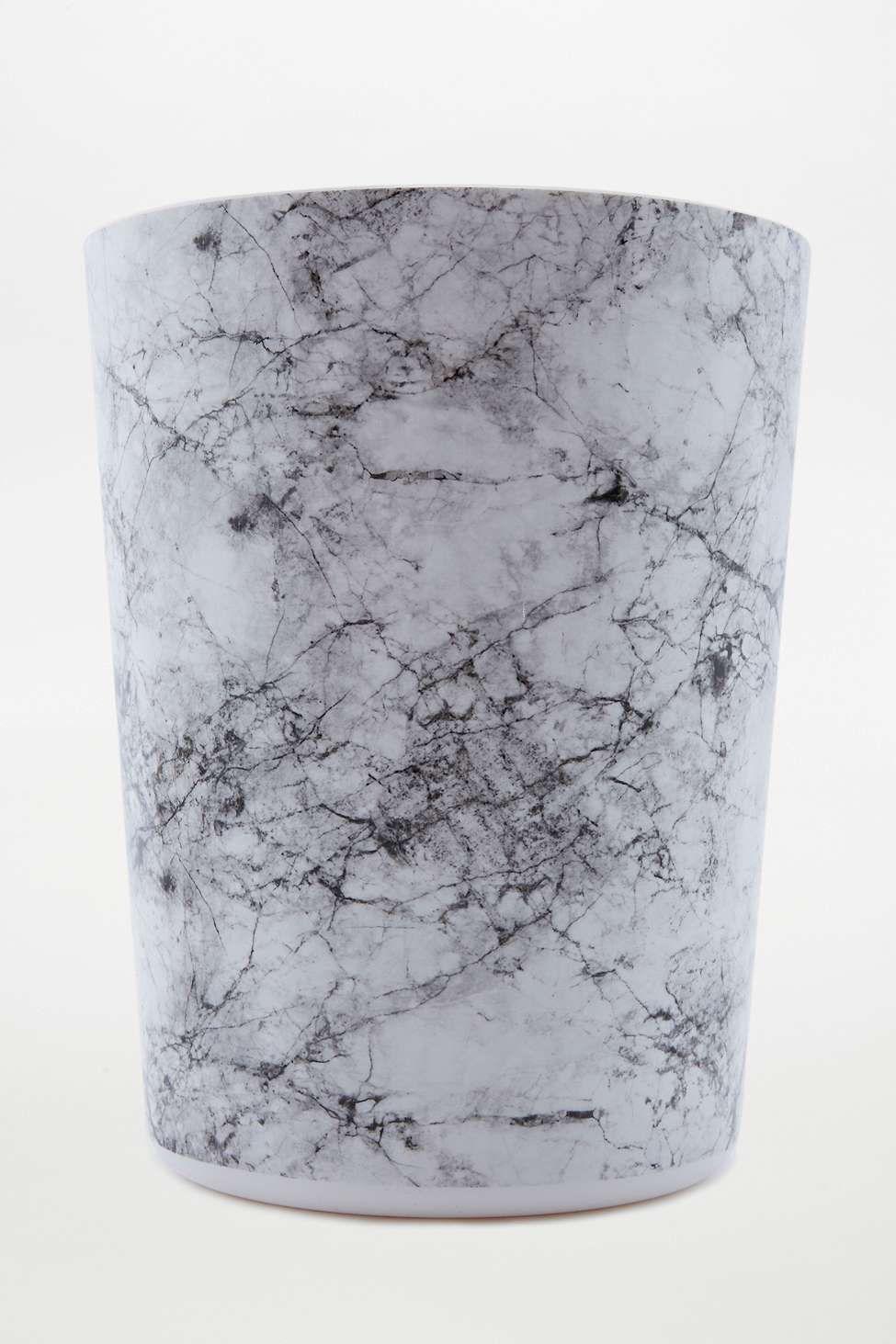 Marble Bin Bathroom Trash Can Bathtub Decor Trash Can