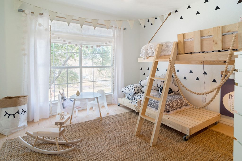 Moderne kinderkamer in scandinavische stijl design firms