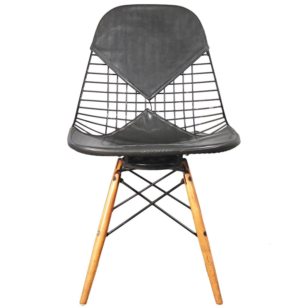 early eames pkw wire chair for herman miller   wire chair and