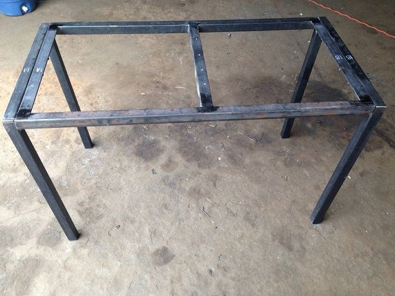Beautiful Rustic Table Legs | Square Metal Industrial Frames | Custom