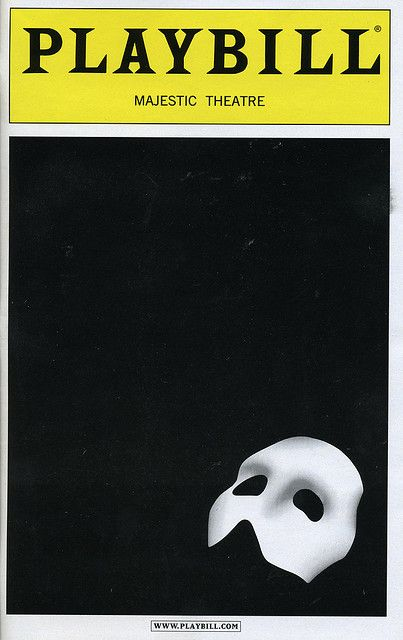 Img890 Broadway Playbills Phantom Of The Opera Broadway
