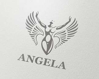 Angela Logo design - The logo was inspired by the beauty of women. It represents nobility, grace and victory. Suitable for many different spheres of business