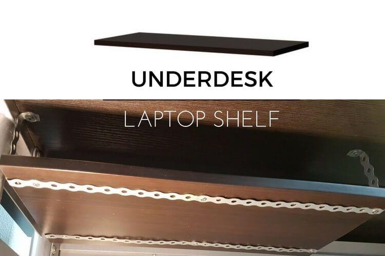 15 Underdesk Laptop Shelf Mount Ikea Hackers Ikea Hackers Store Laptop Shelves