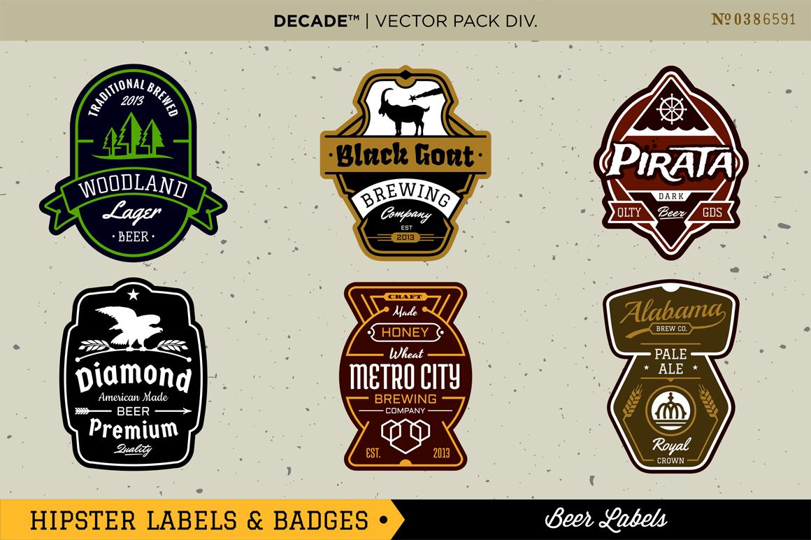 Creative Market - Hipster Badges Collection   Lockups   Pinterest ...