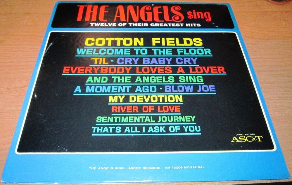 1963 Lp The Angels THE ANGELS SING TWELVE OF THEIR