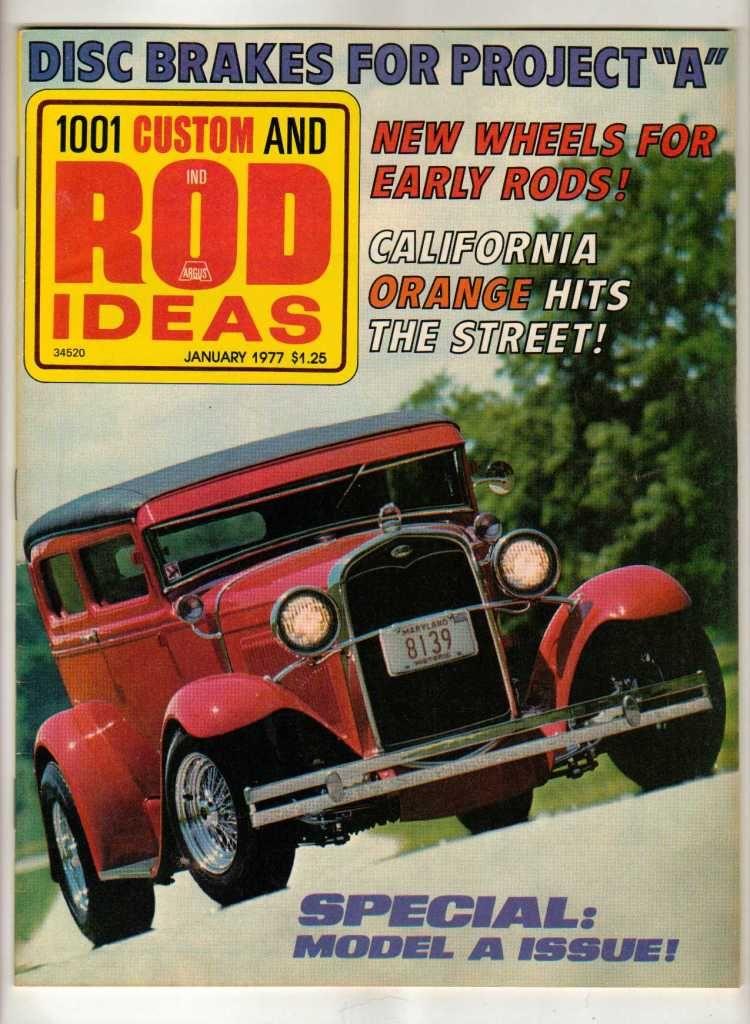 1001 Custom & Rod Ideas January 1977 Antique Ford Model A Vintage ...