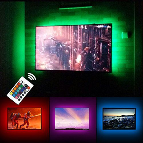 USB TV Backlight LED Bias Lighting Kit For 24″ to 60 Inch Smart TV Monitor - screen lights