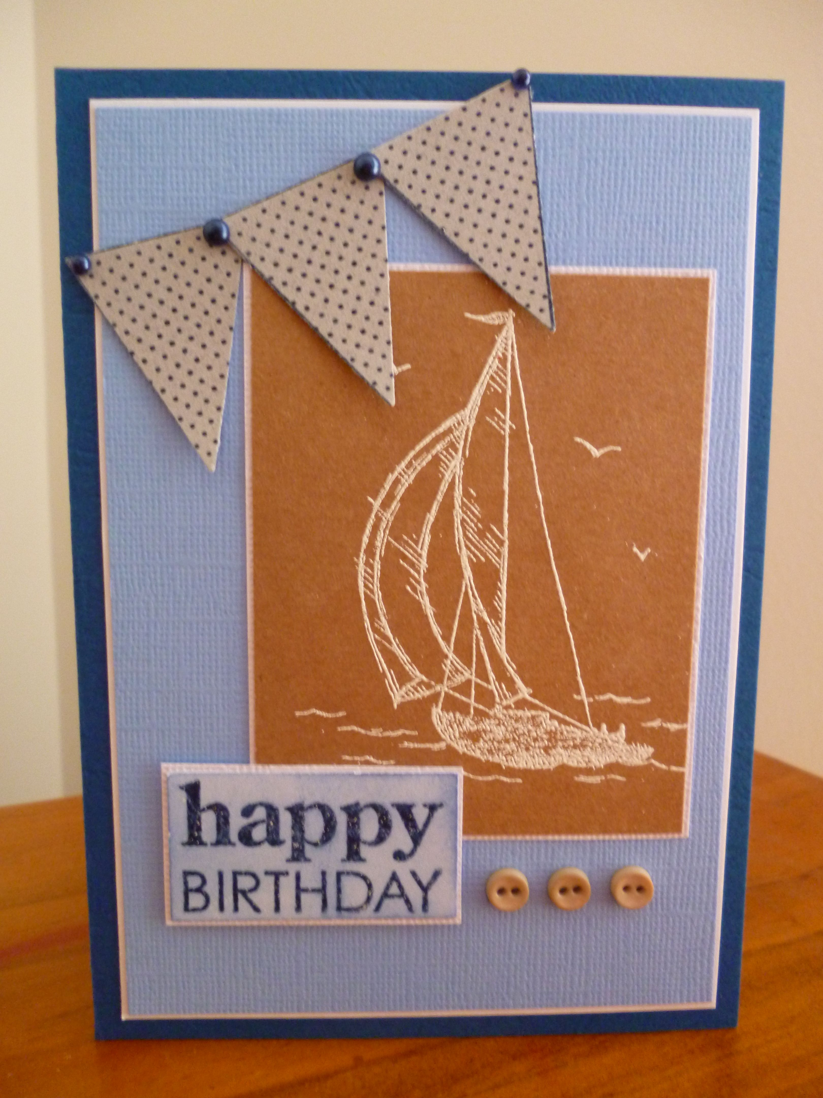 My Card Using Su Stamps Cards Pinterest Stamps Man Card And