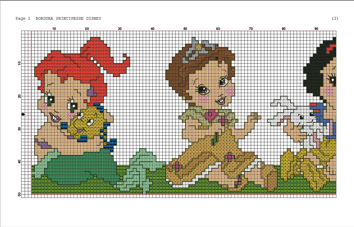 disney princess cross stitch