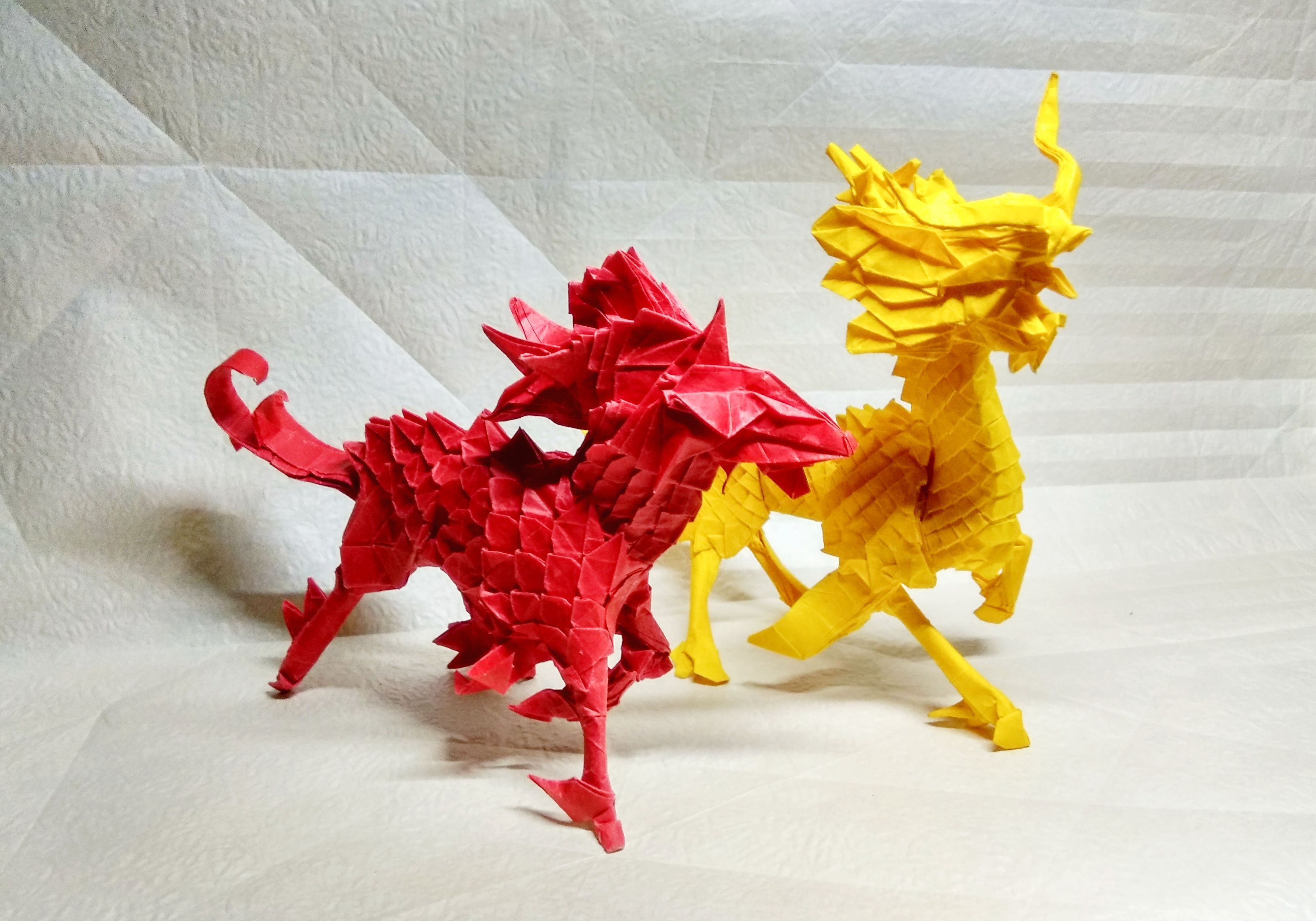 Origami Kirins Origami Useful Origami Paper Crafts