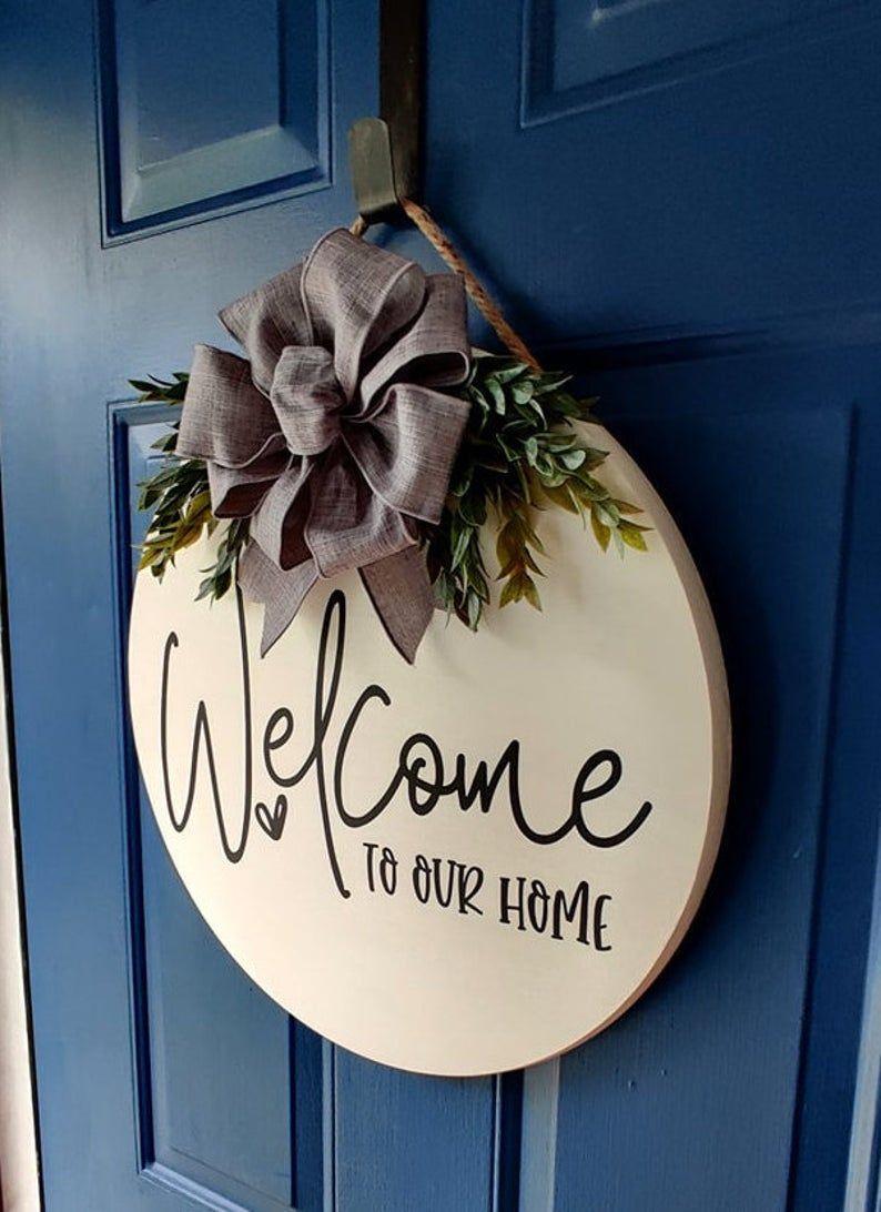 Door Hanger Sign Mothers Day Front Door Decor Wooden Door Wreath Welcome Door Sign Porch Sign Farmhouse Home Sweet Home Door Decor