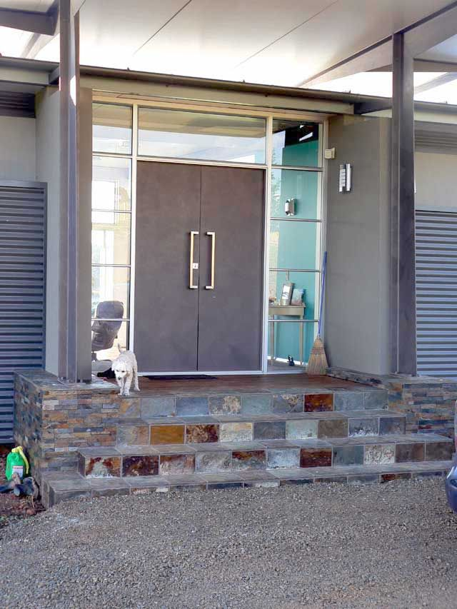 Unique Contemporary Double Front Entry Doors
