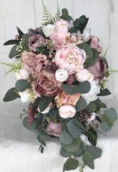 Brautstrauß Dusty Rose Brautstrauß Blumenstrauß erröten Hochzeitsstrauß lil…