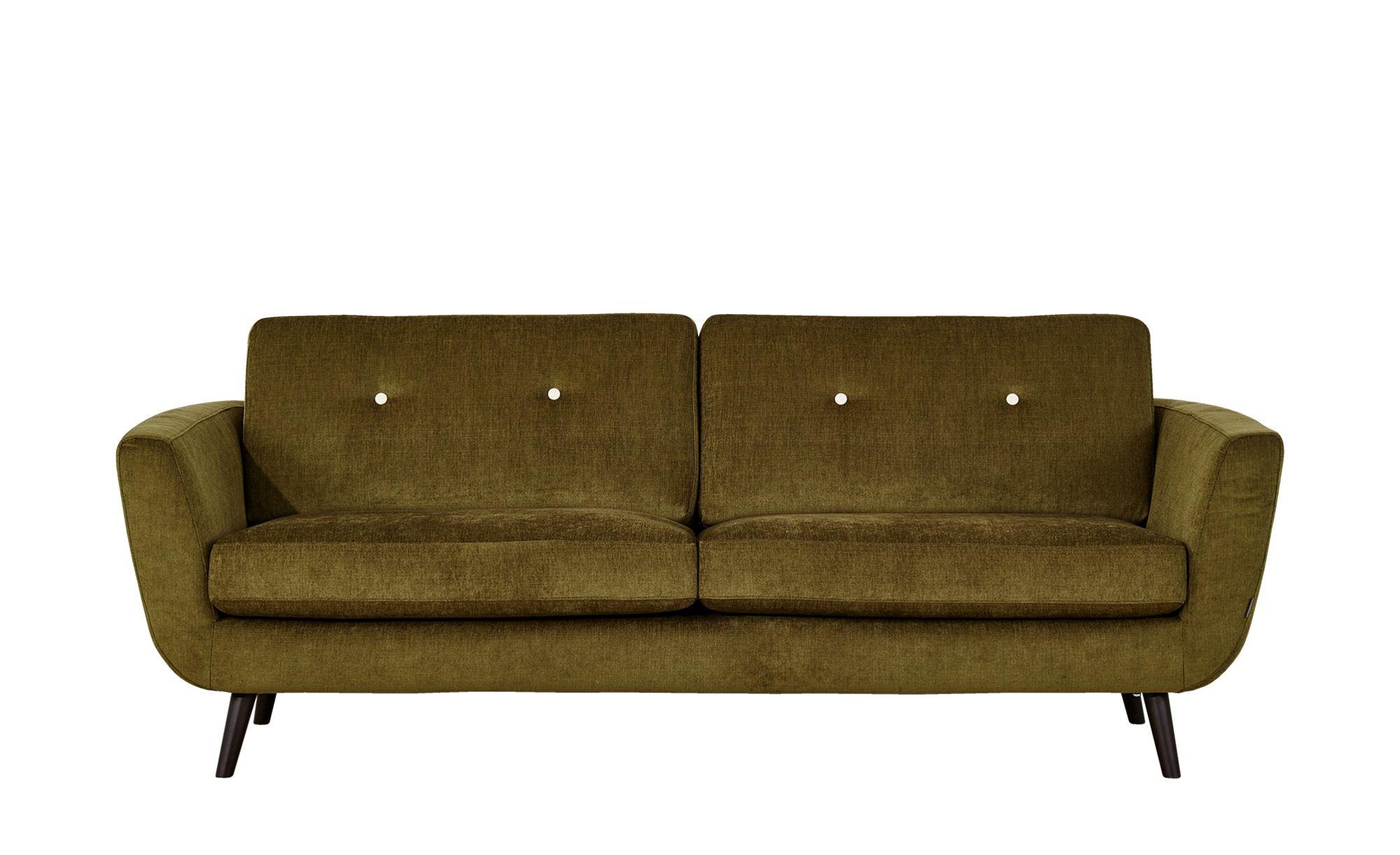 SOHO Sofa 2,5sitzig grün Webstoff Smilla Möbel sofa