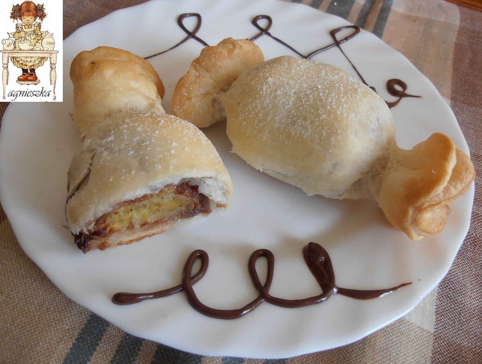 Caramelle di sfoglia con banana e cioccolato  from Agnesedus