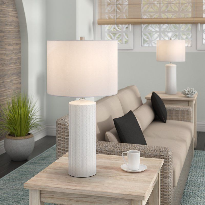 Beachcrest Home Heming 25 Table Lamp Reviews Wayfair Table Lamps Living Room Lamps Living Room Table Lamp Sets