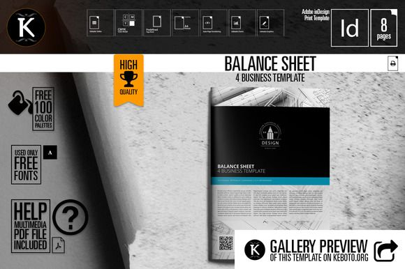 Balance Sheet 4 Business Template Balance sheet, Template and Business