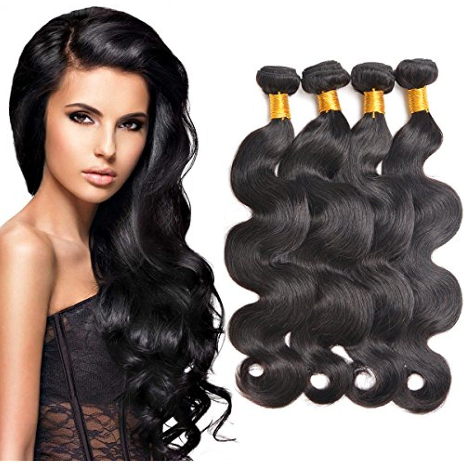 Body Wave Brazilian Hair Human Hair Weave Grade 7a Virgin Hair