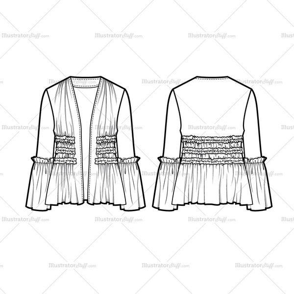 Free Fashion Flat Templates Trim Pack Courses Free Tutorials On Adobe Illustrator Tech Packs Freelancing For Fashion Designers Fashion Portfolio Layout Fashion Design Jobs Flat Sketches