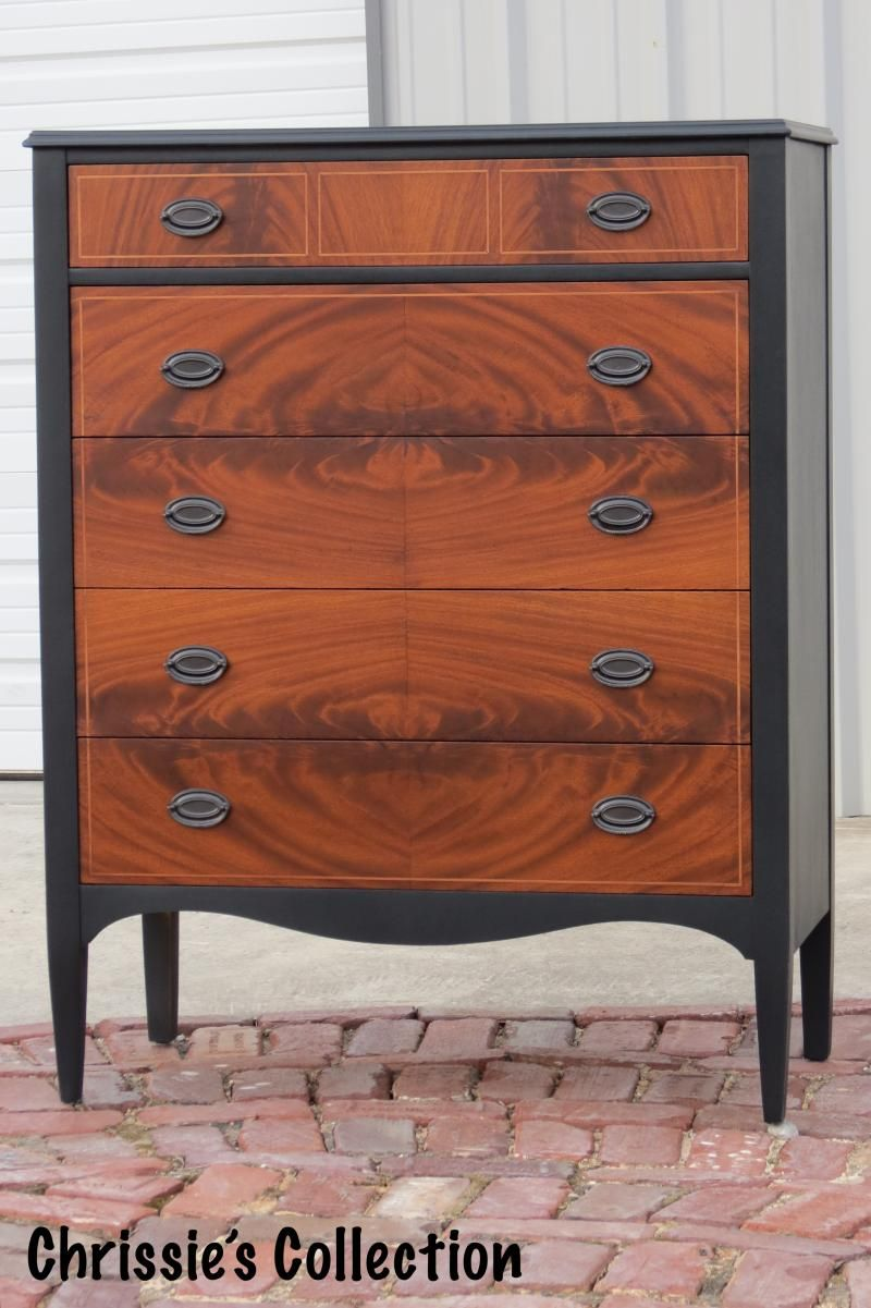 Chrissie s Collection Custom Painted Furniture Two tone chest in