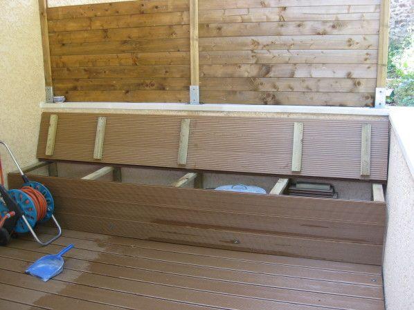 Terrasse bois pas a pas jardin et terrasse pinterest terrasses escaliers et banc bois - Banc de terrasse en bois ...