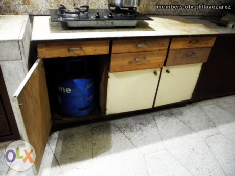 Sold One Lot 1 Kitchen Counter Table 1 Cooking Table And 1 Rice Bin Counter Table Kitchen Counter Things To Sell