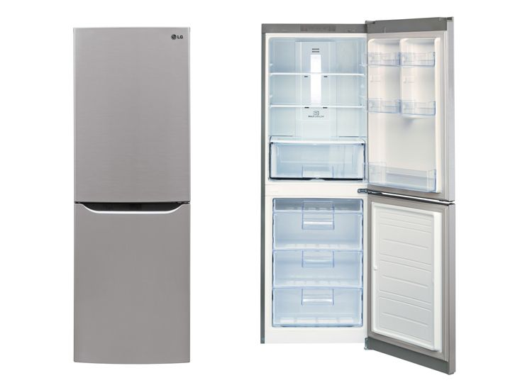 LG LBN10551PS 24 in. Counter Depth Bottom-Freezer Refrigerator ...