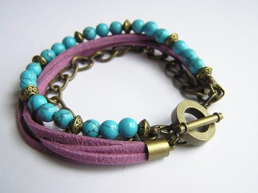 Handmade Jewelry - Handmade Jewelry Show - Google+. Combination of suede beads and chain l would like to make.