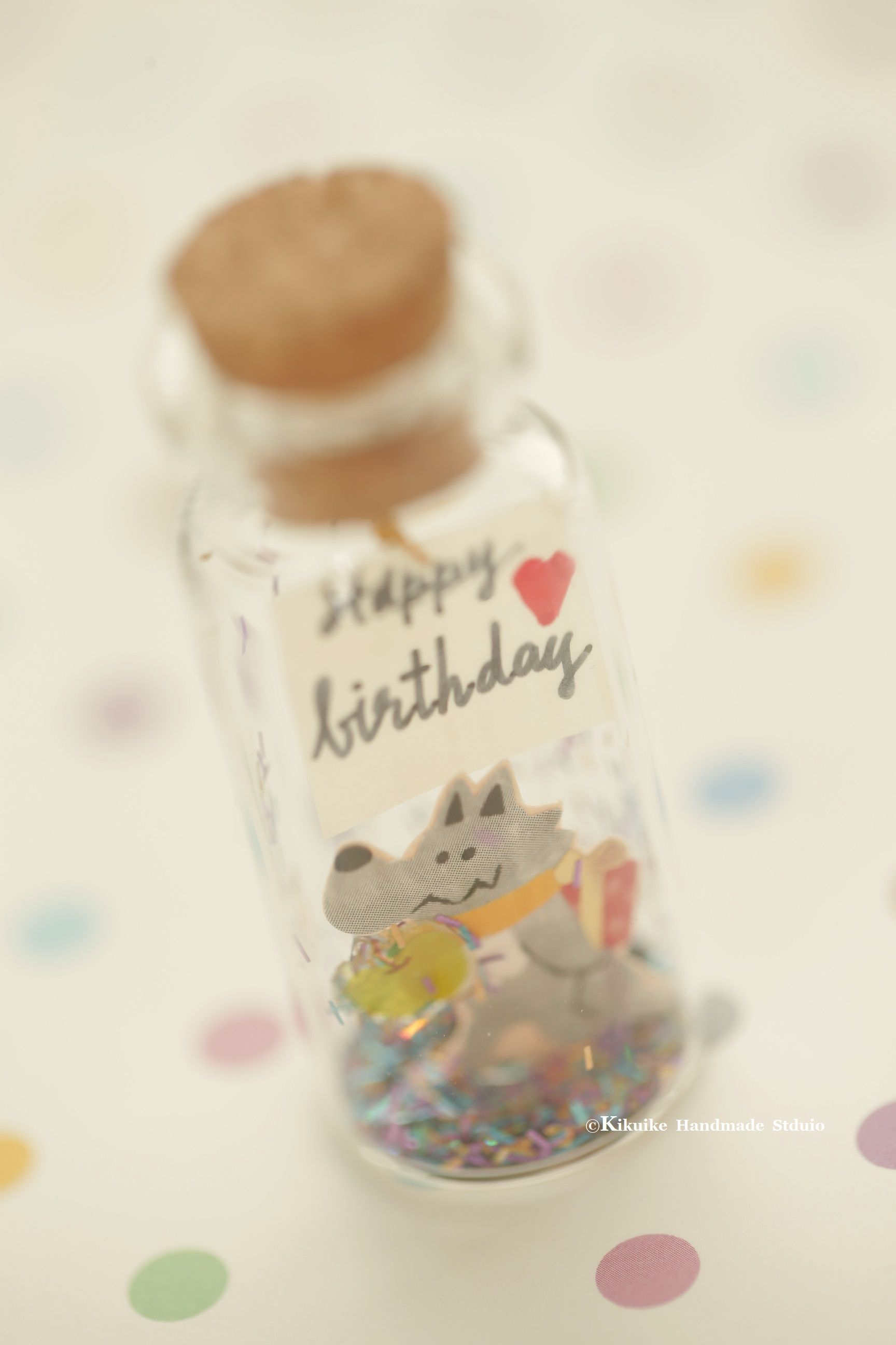 Happy Birthday Tiny Message In A Bottle Miniatures Personalised Gift