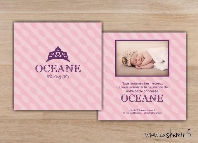 Faire part de naissance fille bébé Fichier Imprimable n°32