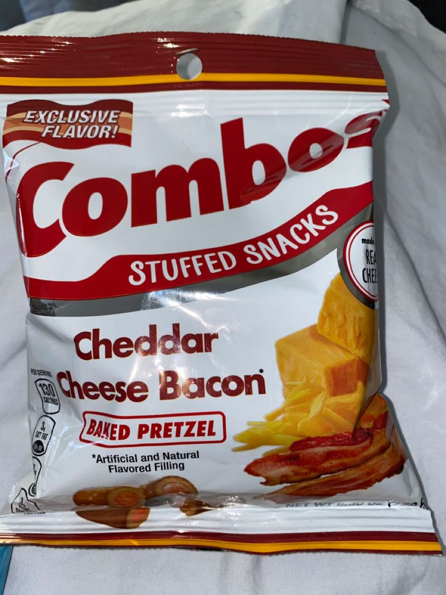 Combos stuffed snacks cheddar cheese bacon baked pretzel