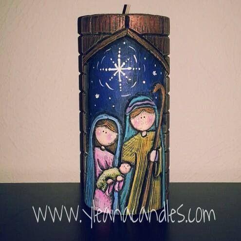 Nacimiento navidad pinterest nacimiento velas talladas y velas - Velas talladas ...