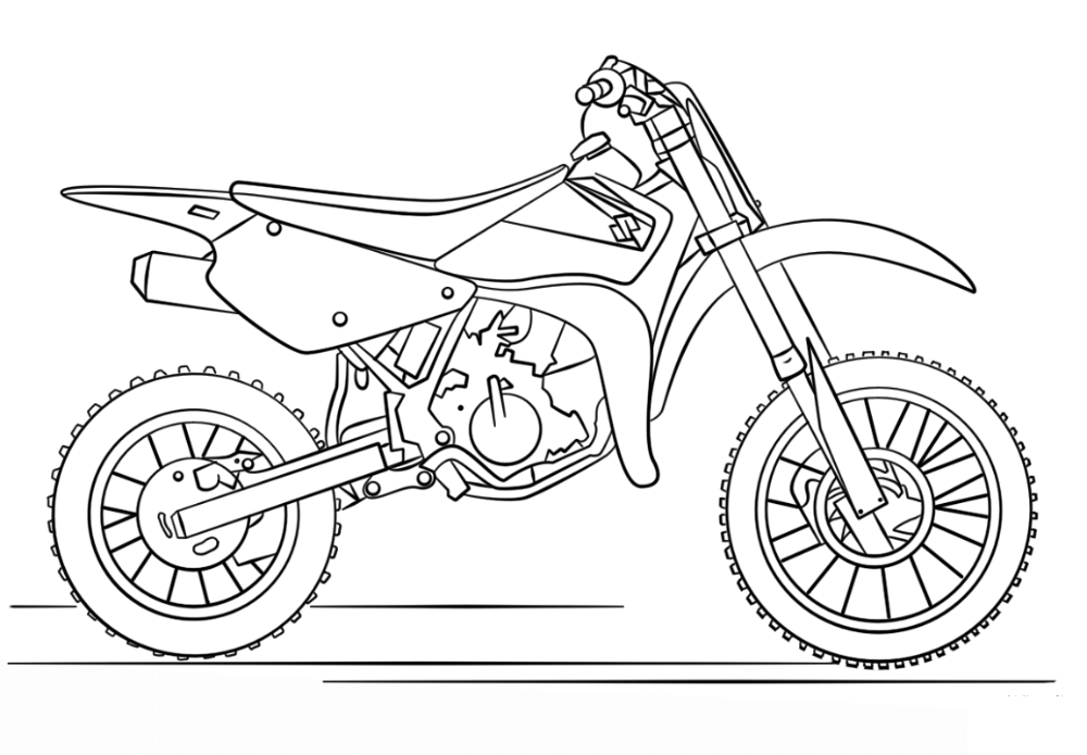 Dirt Bike Coloring Pages Honda 101 Worksheets Bike Drawing Coloring Pages Motorbike Drawing