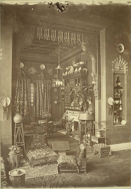An Egyptian Interior In Cairo Taken The This Picture Shows A Lot Of Exotic Furnishings