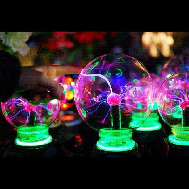 Cotton Candy Tesla Balls Neon Lighting Light My Fire