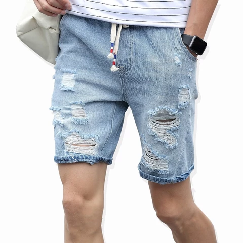New Mens Stretch Shorts Plus Size Pants Jeans Denim Trousers 36-52 Loose Summer