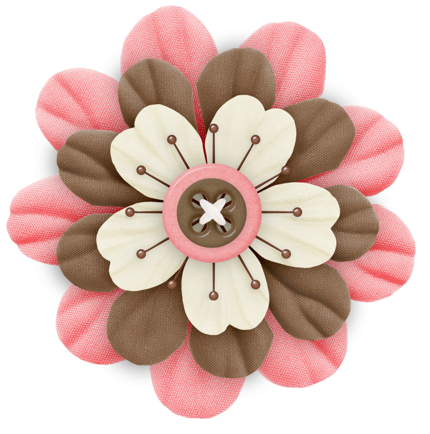 Cute Cliparts Pink And Brown Flower Cute Clipart Flowers