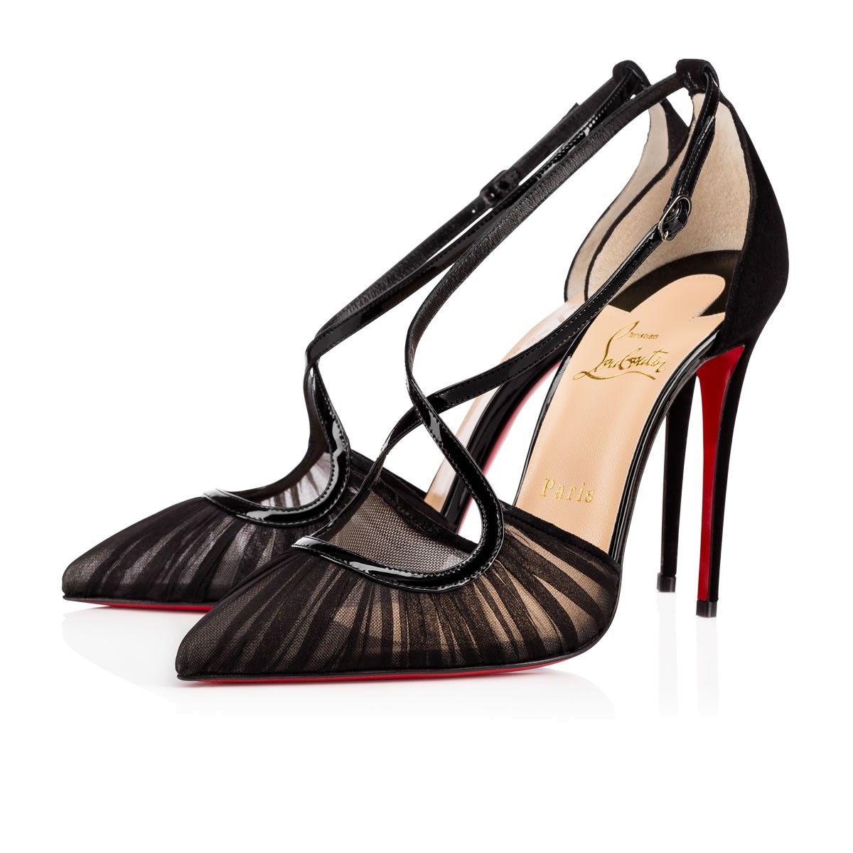 30fed927ac88 CHRISTIAN LOUBOUTIN Marchella Mousseline Veau Velours 100 Black Silk  Chiffon - Women Shoes - Christian Louboutin.  christianlouboutin  shoes